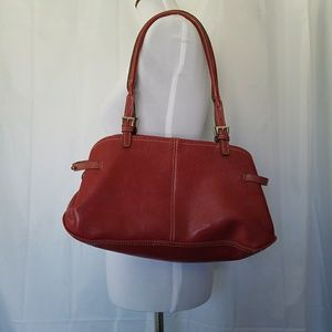 MONDANI BURGUNDY VEGAN LEATHER CAREER SATCHEL EUC